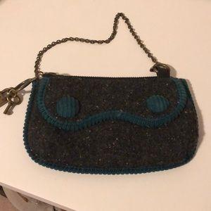 Teal and Black Mini GAP purse / handbag